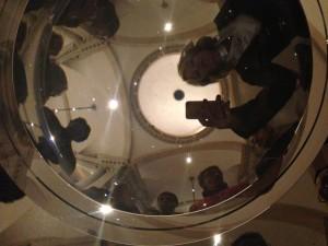 La speciale prospettiva del Palladio nella lente gigante presentata dalla fondazione Swarovsky.