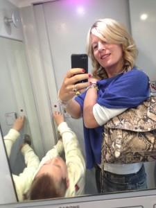 Dannu boy ed io nella toilet dell'unico treno puntuale di ieri!