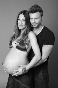 Kris e Yan poco prima del parto
