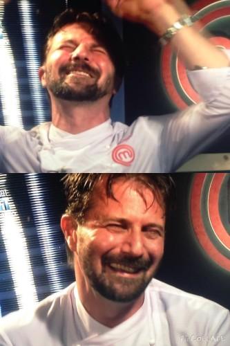 La gioia di Stefano, vincitore di Masterchef 4
